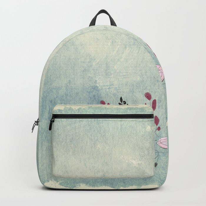 Diamond and flowers - Floral Flowers watercolor illustration Backpack