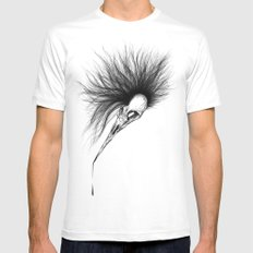 Bird Skull SMALL Mens Fitted Tee White