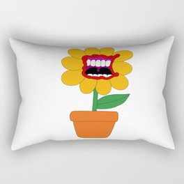 Flower Pot Rectangular Pillow