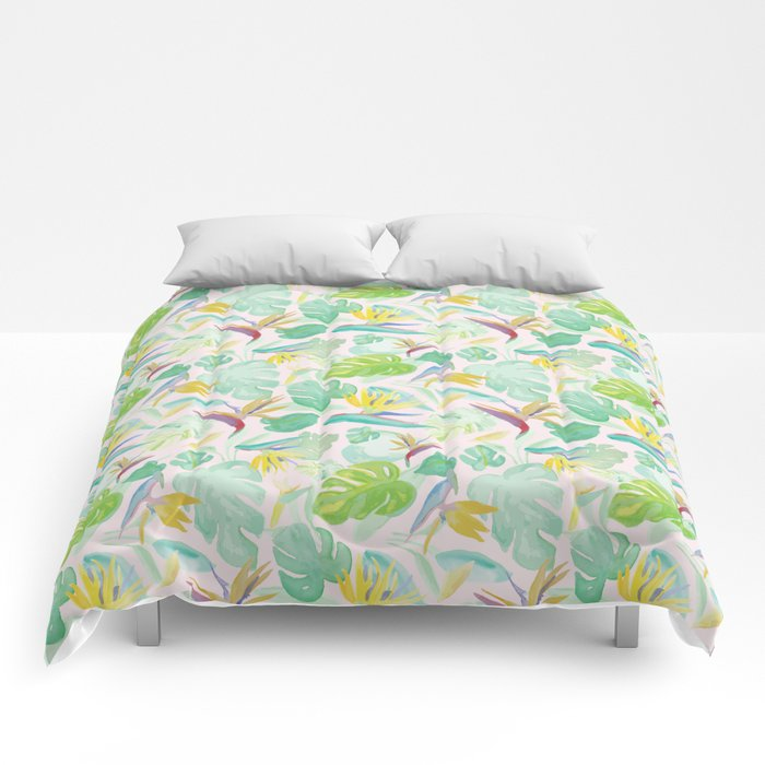 Birds of Paradise Pattern Comforters