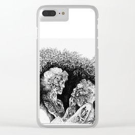 Zombie Valentine Clear iPhone Case