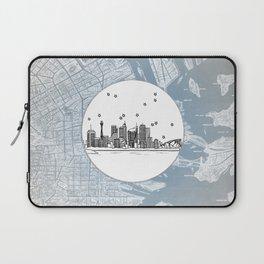 Sydney, New South Wales, Australia City Skyline Illustration Drawing Laptop Sleeve