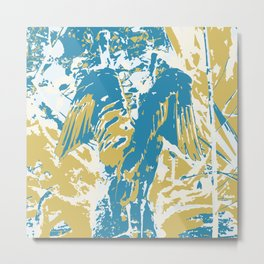 Wings, Blue & Yellow Metal Print