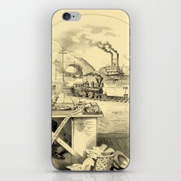 The Progress of the Century (Currier & Ives) iPhone Skin