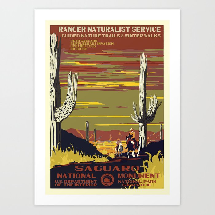 National Parks 2050: Sagauro Art Print