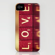 Love is a Beautiful Word II Slim Case iPhone (4, 4s)