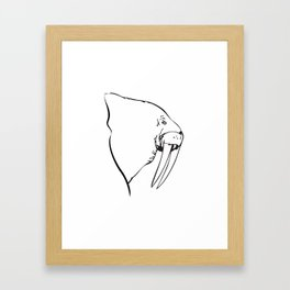 I Am The Walrus Too Framed Art Print