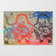 YOSEMITE SAM GRAFFITI Canvas Print