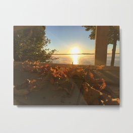 Cottage Sunset Metal Print