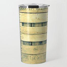 Apple Crate Wooden Texture Travel Mug