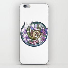 Snake and flowers iPhone Skin