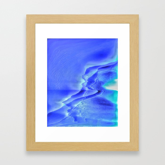 Tundra coast Framed Art Print