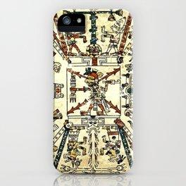 Aztec Collection: God Xiuhtecuhtli iPhone Case