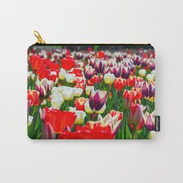 Multi-Coloured Tulips Carry-All Pouch