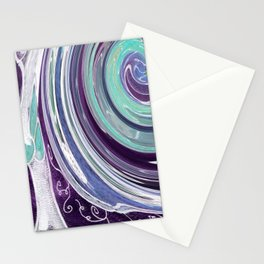 Purple and Teal Swirls Stationery Cards