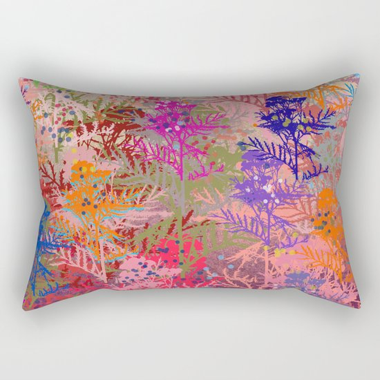 Floral abstract(52). Rectangular Pillow
