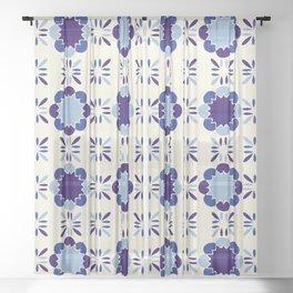 Portuense Tile Sheer Curtain