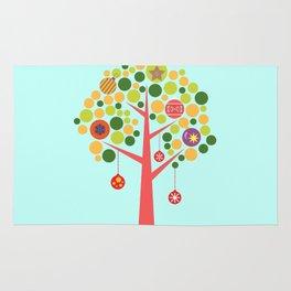 Christmas tree illustration Rug