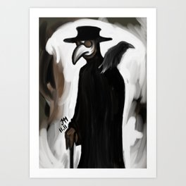 Doctor and Raven Art Print