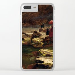 Albert Goodwin The Sultan and his camp by the enchanted lake Clear iPhone Case