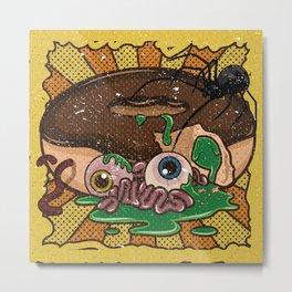 Gory Donut #1 Illustration Metal Print