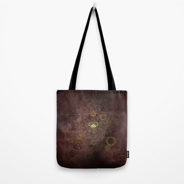 Steampunk Zodiac Cancer Tote Bag