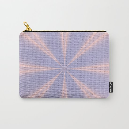 Fractal Pinch in Rose Quartz and Serenity Carry-All Pouch