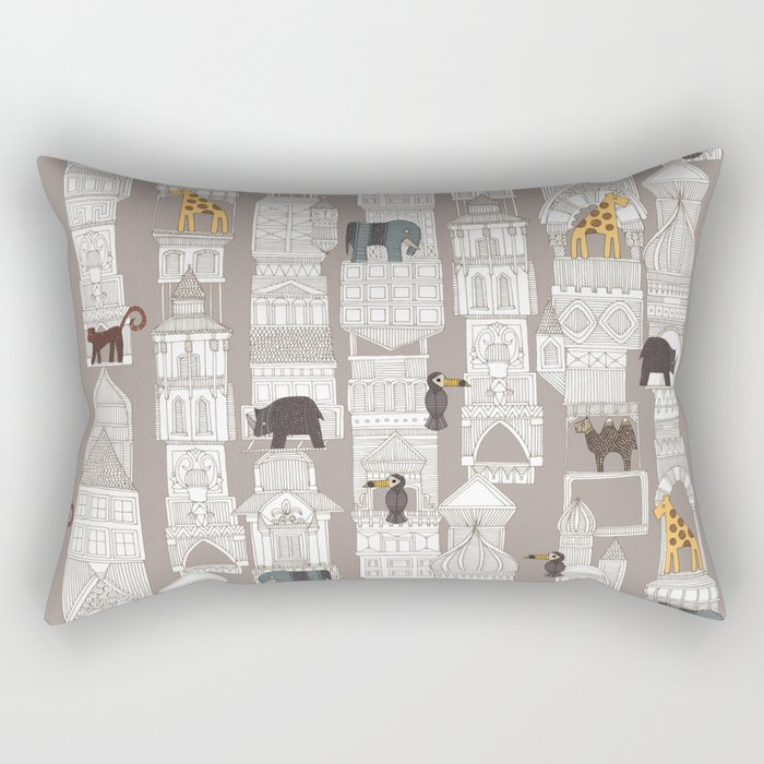 urban jungle pebble Rectangular Pillow