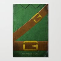 video game Canvas Prints featuring Video Game Poster: Adventurer by Justin D. Russo