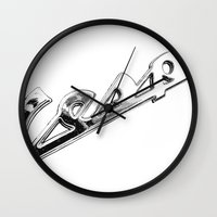 vespa Wall Clocks featuring Vespa by graphic small things