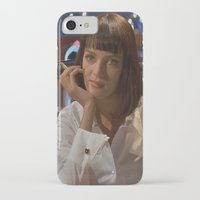 mia wallace iPhone & iPod Cases featuring Mia Wallace  by Claudia