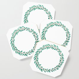 Green Wreath Coaster