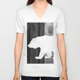 White Bear Unisex V-Neck