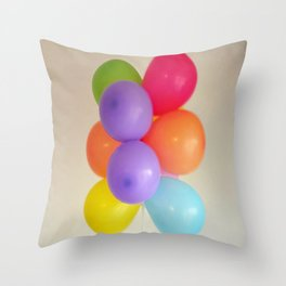 colourful balloons Throw Pillow