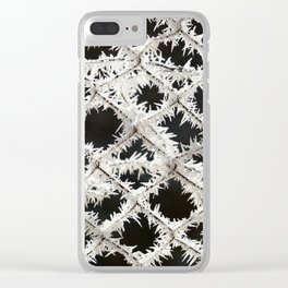 Frosted Fence Clear iPhone Case
