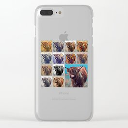 Yak Attack - Pop Art Collage Clear iPhone Case