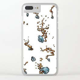 Falling Tea Party Clear iPhone Case