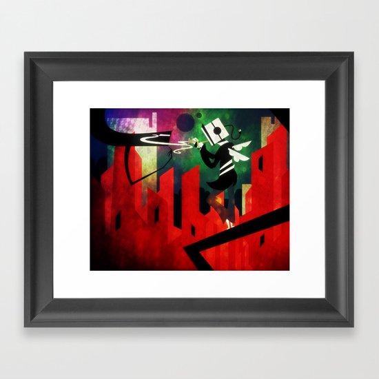 The Lit Cube Framed Art Print