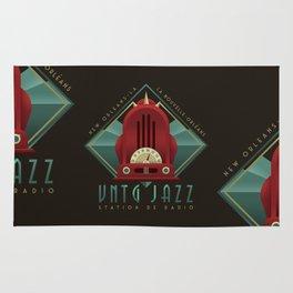 Vintage Jazz Radio Station Rug