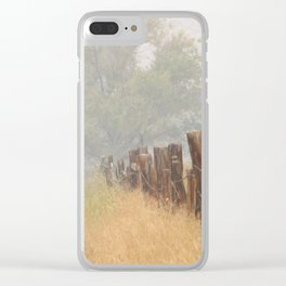 Fence Line Clear iPhone Case