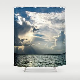 Coconut Grove Sailing Day Shower Curtain