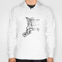 shopping Hoodies featuring Shopping Cart by Brontosaurus