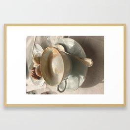 Cappuccino Positano Framed Art Print
