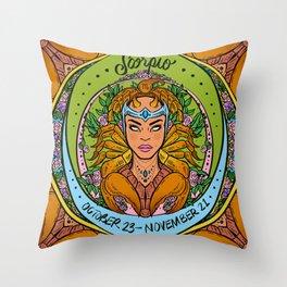Zodiac: Scorpio Throw Pillow