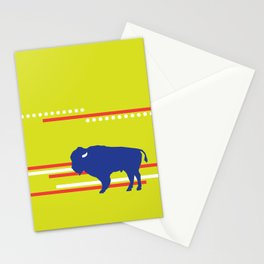 Bison striped Stationery Cards