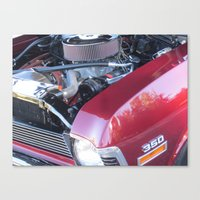 muscle Canvas Prints featuring muscle 2 by Davey Charles