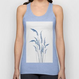 Blue flowers 2 Unisex Tank Top