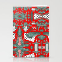 crocodile Stationery Cards featuring crocodile by BUBUBABA