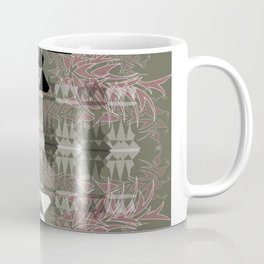Reflective Queens (Olive Green and Salmon) Coffee Mug