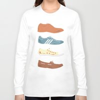 shoes Long Sleeve T-shirts featuring Shoes by Things and Other Things